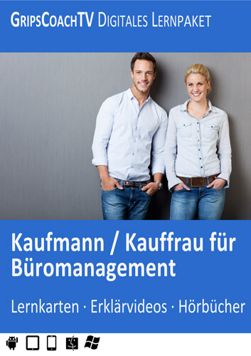 GripsCoachTV Digitales Lernpaket Kaufmann / Kauffrau für Büromanagement