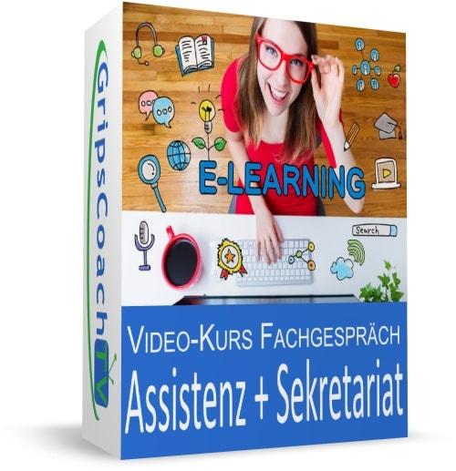 Video-Kurs Fachgespräch sicher bestehen - Assistenz und Sekretariat - GripsCoachTV