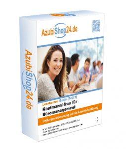 AzubiShop24.de Lernkarten für den 2. Teil der IHK-Prüfung Kaufmann / Kauffrau für Büromanagement - Prüfungsvorbereitung